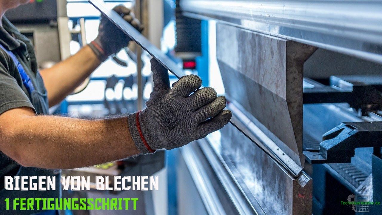 Biegen von Blechen - Bereiche der Fertigungstechnik