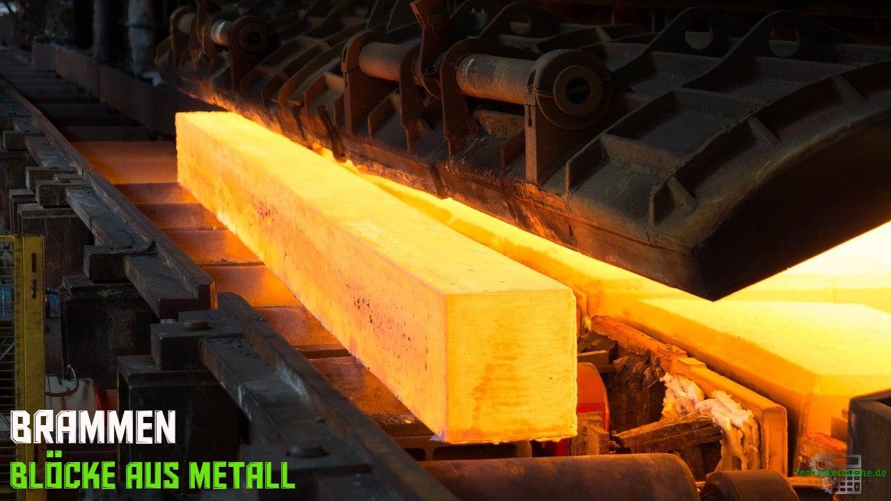 Brammen - Blöcke aus Metall