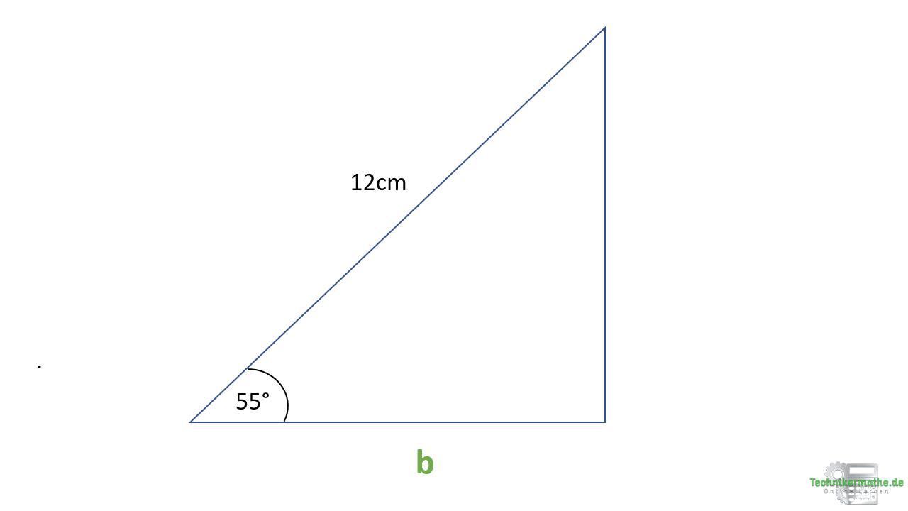 Kosinus Beispiel, Dreieck